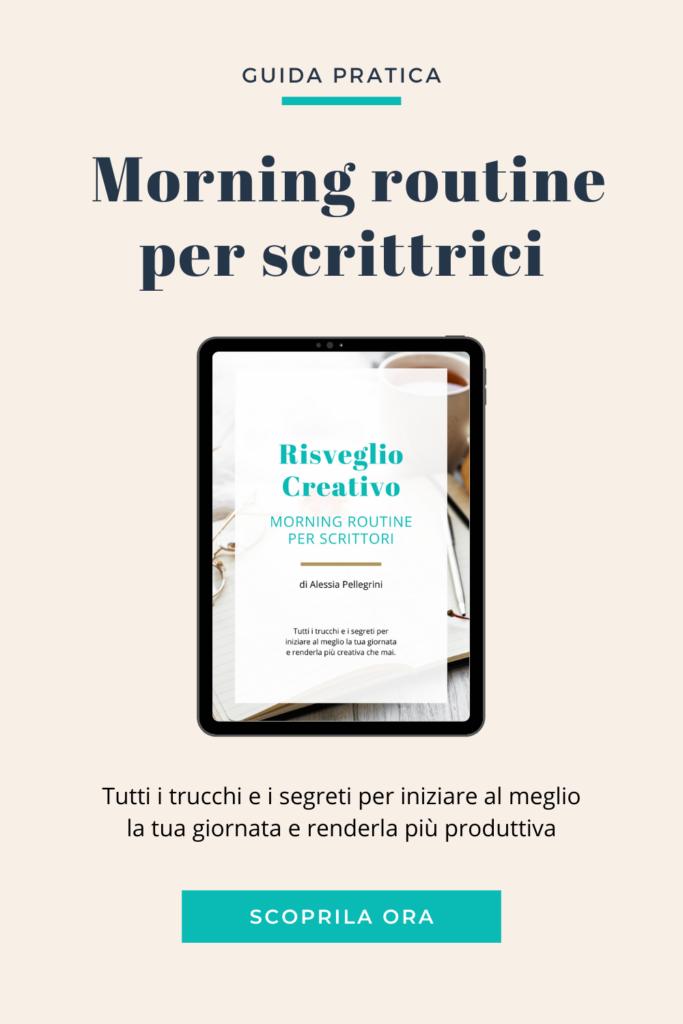 morning routine per scrittrici